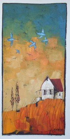 South African Contemporary and Upcoming Artist & Old Masters Art Gallery. Kitsch, Acrylic Painting On Paper, Art Folder, Encaustic Art, Inspirational Artwork, Naive Art, African Art, Pastel, Landscape Art