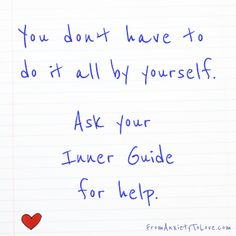 You don't have to do it all by yourself - ask your Inner Guide for help❤️☀️