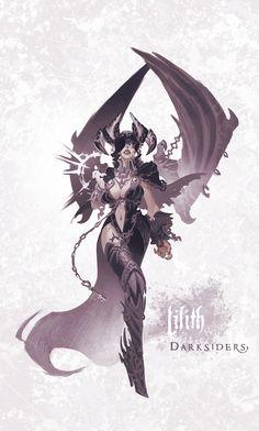 Darksiders Fury Concept Art Darksiders fur