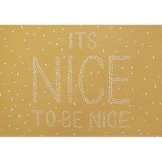 It's Nice to be Nice