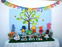 Gabriel and Belle Celebrations: Backyardigan Theme Birthday {Dessert Table} Dessert Table Birthday, Birthday Desserts, 3rd Birthday Parties, 2nd Birthday, Themed Parties, Birthday Ideas, Luau Theme Party, Alice, Party Entertainment