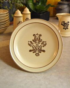 Pfaltzgraff Village SALAD PLATE stoneware oven microwave #saladplates #kitchendecor #shopping #style #floraldesign #1970s