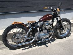 1969 XLCH Sportster swingarm custom with a ridiculously tiny seat