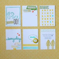Project Life cards by Melanie Blackburn for Jillibean Soup