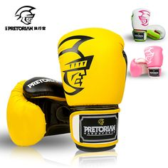 10-16 OZ GROS PRETORIAN MUAY THAI JUMEAUX PU GANTS DE BOXE EN CUIR POUR HOMMES FEMMES FORMATION EN MMA SUBVENTION BOÎTE GANTS 5 COULEURS