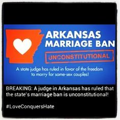 #Arkansas #samelove #lovewhowewantto #marriageequality #equality #loveislove #bornthisway #lgbt Same Love, Born This Way, Rainbow Flag, The Freedom, Acceptance, Arkansas, Equality, Lgbt, Pride