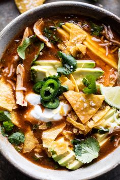 Crockpot Spicy Chicken Tortilla Soup With Mango Crock Pot Recipes, Slow Cooker Recipes, Soup Recipes, Cooking Recipes, Healthy Recipes, Crockpot Ideas, Chicken Recipes, Dinner Recipes, Tex Mex