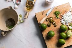 shrimps with lime and tequila