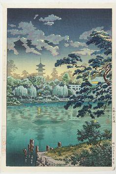 土屋光逸「上野 不忍の池」
