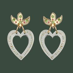 Image of TRANSPARENT HEART EARRINGS