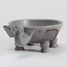 Elephant Individual Bowl | World Market (to plant succulents in)