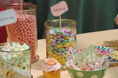 Doing a candy bar for the girls party!