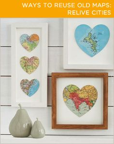 Are certain places special to you? Save them by making these heart-shaped art pieces.