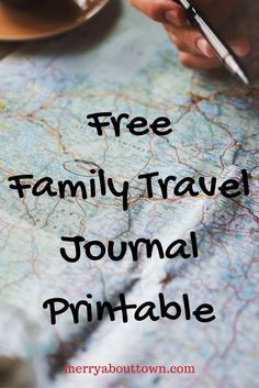 Check out this great Family Travel Journal Printable. DIY Travel Journal with 34 pages of prompts for the entire family.
