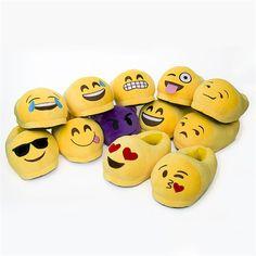 Emoji Chinelos Mulheres Homens Dos Desenhos Animados de Pelúcia Chinelos Em Casa Bonito Estilo Moda Inverno Casa Sapatos Fechados Um Ajuste de Tamanho EU35-42 Pantufa