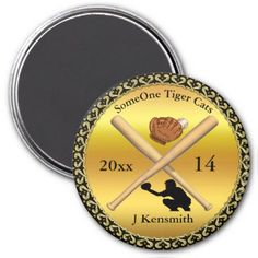 Personalized Baseball Champions League design Magnet - foil leaf gift idea special template