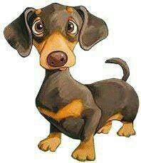 52 ideas for funny animals dogs dachshund Cartoon Drawings, Animal Drawings, Funny Drawings, Drawing Cartoon Animals, Drawings Of Dogs, Realistic Cartoons, Dachshund Art, Daschund, Dapple Dachshund