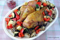 Udziec z indyka pieczony z warzywami