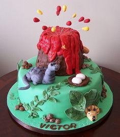 Dinosaur cake by cakespace - Beth (Chantilly Cake Designs), via Flickr
