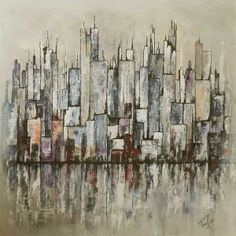 A wonderful abstract peice called City Blocks by Paul Chambers £30 #ArtisticBritain