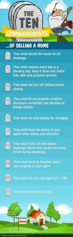 The Ten Commandments Of Selling A Home (Infographic)