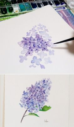 Easy Watercolor Flowers Step by Step Tutorial. Learn how to paint these lovely florals with a detailed step by step lesson from Torrie of Fox + Hazel. Easy Watercolor Flowers Step by Step Tutorial Great little watercolor project for beginners with helpful Easy Watercolor, Watercolor Cards, Watercolor Flower Painting, Watercolor Water, Watercolor Artists, Watercolor Pencils, Watercolor Landscape, Watercolor Print, Art Floral