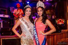 AmbergrisToday.com | Raquel Badillo Officially Crowned Miss World Belize | Raquel Badillo and Miss San Pedro Michelle Nuñez