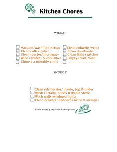 Kitchen Chore Chart  http://www.chartjungle.com/chores.html