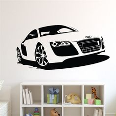 T06054 Creative car wall stickers Large Racing Car Wall paper Vinyl Mural Wall Art Decal for Boy bedroom living room Home Decor