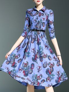 Buy it now. Purple Lapel Belted Print A-Line Dress. Purple Peter Pan Collar Half Sleeve Polyester A Line Knee Length Print Fabric has no stretch Yes Summer Casual Day Dresses. , vestidoinformal, casual, camiseta, playeros, informales, túnica, estilocamiseta, camisola, vestidodealgodón, vestidosdealgodón, verano, informal, playa, playero, capa, capas, vestidobabydoll, camisole, túnica, shift, pleat, pleated, drape, t-shape, daisy, foldedshoulder, summer, loosefit, tunictop, swing, day, off...