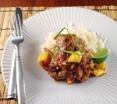 Curried Chicken with Ginger, Mango and Lime via Taking On Magazines