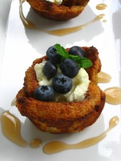 Blueberry and French Toast Bowls