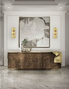Exclusive sideboards are necessary in order to create a luxury home. These exquisite items are able to upscale any living room or dining area. #bocadolobo #luxuryfurniture #interiordesign #designideas #livingroom #modernlivingroom #decorideas #homeandecoration #livingroomideas #interiodesign #decor #homedecor #livingroomdecor #interiordesigninspiration #interiorinspiration #luxuryinteriordesign #homedecor #decorations #homedecor #buffetsandcabinets Contemporary Home Furniture, Art Furniture, Luxury Furniture, Furniture Design, Contemporary Design, Furniture Inspiration, Interior Design Inspiration, Design Ideas, Design Trends