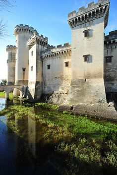 Castle of Tarascon, located south of Avignon and north of Arles, France, on the…