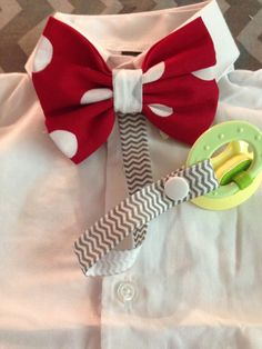 Bow Tie With Snap On Pacifier Holder (Any Bow Tie, Any Size.) on Etsy, $10.00