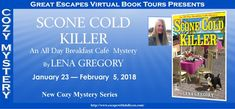 Scone Cold Killer by Lena Gregory All-Day Breakfast Cafe Mystery #1 Lyrical Underground • January 23, 2018 For Florida diner owner Gia Morelli, there's no such thing as too much breakfast—unless it kills you… When Gia Morelli's marriage falls apart, she knows it's time to get out of New York. Her husband was a scam artist who swindled half the millionaires in town, and she doesn't want to be there when they decide to take revenge. On the spur of the moment, she follows her best friend to a…