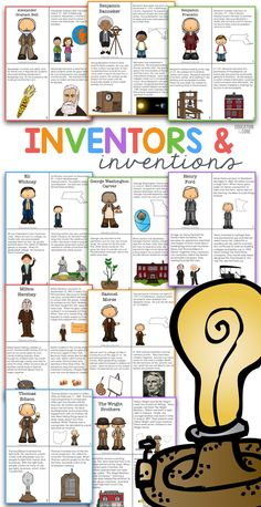 Inventors and Inventions Close Reads and Activities for Kids: Accompany your projects with aligning comprehension activities.  Inventors Included: Alexander Graham Bell, Benjamin Franklin, Samuel Morse, Eli Whitney, George Washington Carver, Henry Ford, Thomas Edison, The Wright Brothers, Milton Hershey, Benjamin Banneker.
