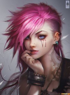 league of legends caitlyn and vi fan art - Google Search