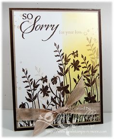 Simple elegant Sympathy card. Just Believe and So Sorry Stamp sets by Stampin'Up!