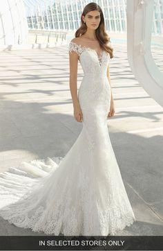 dda77a066294 Rosa Clará Darling Beaded Floral Lace Mermaid Gown   Nordstrom. Wedding  Dress ...