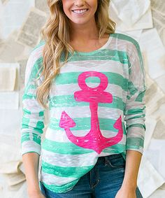 Love this Mint Anchors Away Tunic by White Plum on #zulily! #zulilyfinds