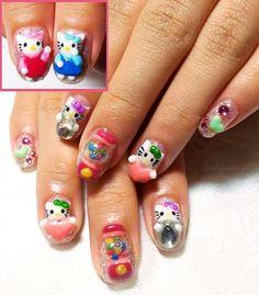 Creative 3D nail art | Nail Art Ideas