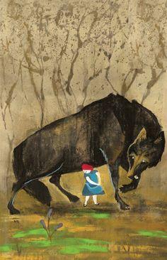LauraMorinArt on Etsy| Red Riding Cap