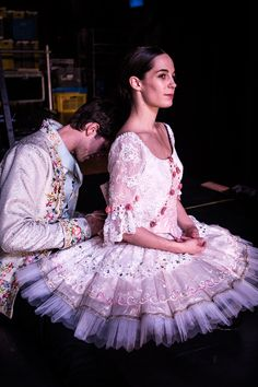 Mathieu Ganio et Amandine Albisson avant La belle au bois dormant par James Bort