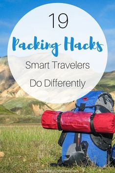 19 Packing Hacks Smart Travelers Do Differently - Don't be a travel noob. Save this pin to learn travel packing tips that'll teach you how to pac - Travel Checklist, Packing Tips For Travel, Travel Goals, Travel Advice, Travel Essentials, Budget Travel, Travel Guides, Travel Bag, Travel Hacks