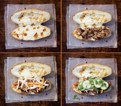 How to top Bahn Mi Sandwiches