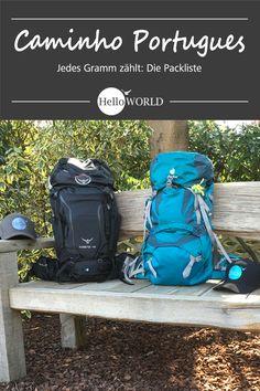 Packliste, Tipps zur Ausrüstung: Jakobsweg / Caminho Portugues / Camino Portugues; Porto (Portugal) > Santiago de Compostela (Spanien)