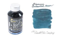 Diamine Enchanted Ocean is going to be a popular one... deep teal fountain pen ink with silver sparkles!