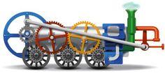 It's a train! Google Team, Art Google, Google Images, Google Days, Bing Images, Best Google Doodles, Doodle 4 Google, Kansas City, Service Internet