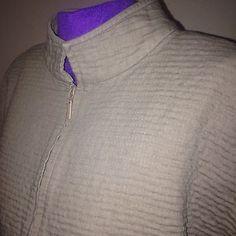 Eileen-Fisher-sz-S-Tan-Zipper-Front-Mandrarin-Collar-Cardigan-Jacket-Cotton-Coat